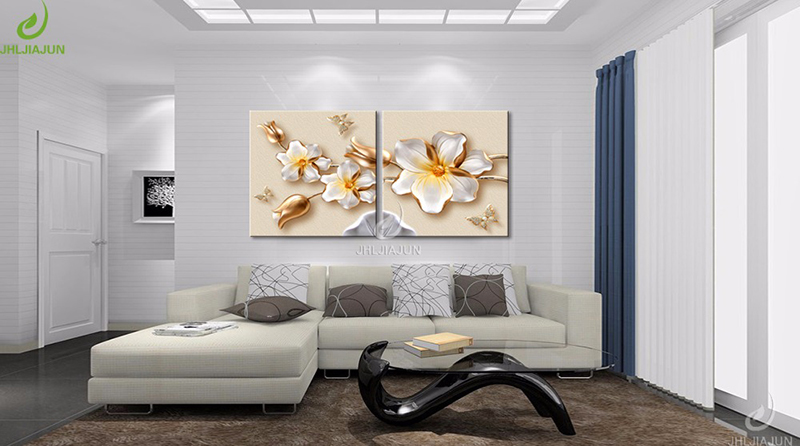 HTB1maQcgljTBKNjSZFDq6zVgVXaI Modular Pictures 3D Art Flower Lotus Poster Wall Art Modular Paintings For Kitchen Wall Pictures Living Room Canvas Painting