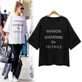 Kesebi 2017 New Hot Spring Summer Female Casual O-neck Tops Women European Style Loose Letters Printing Hafl Sleeve T-shirts