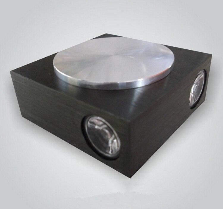 AC85 ~ 265 В 4 Вт черный, серебристый цвет Алюминий настенные светильники светодиодные квадратный диско картины современного фоне стены лампы д…