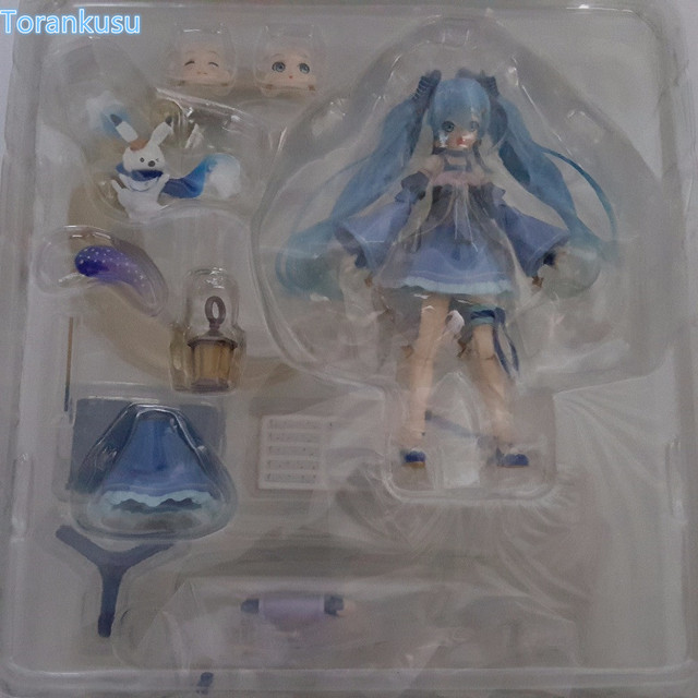 Hatsune Miku Action Figures Twinkel Snow Figma EX037 PVC Figure Toy 140mm Anime Hatsune Miku Collectible Model Doll 5