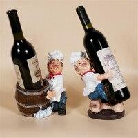 2 Style Chef Brothers Resin Crafts Wine Bottle Holder Kitchen Bar Storage Wine Racks Wedding Party Stand Display