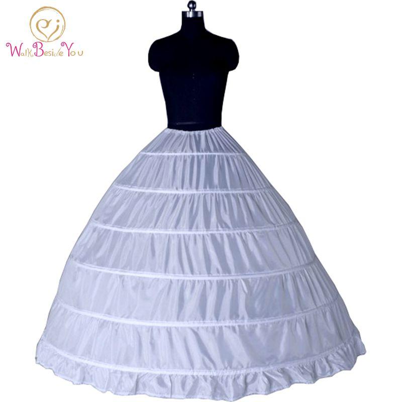 6 Ring Hoop Skirt Petticoat Puffy Evening Ball Gown Petticoat Bridal Under Skirt