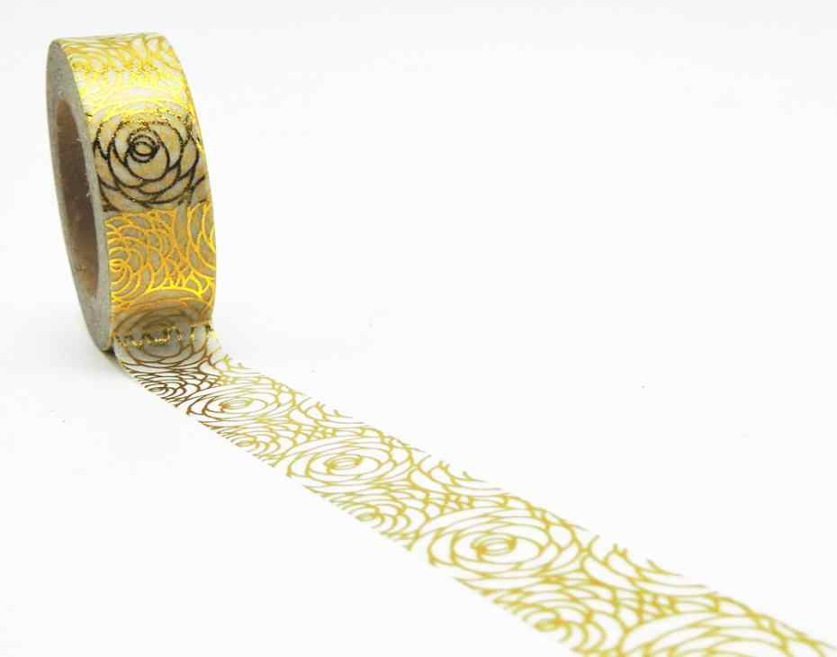 New Golden Seguire Foglio di Washi Ufficio nastro Adesivo Strumenti di Scrapbooking Kawaii Cute Decorativo Di Natale del Mestiere Del Regalo Mestieri di Carta