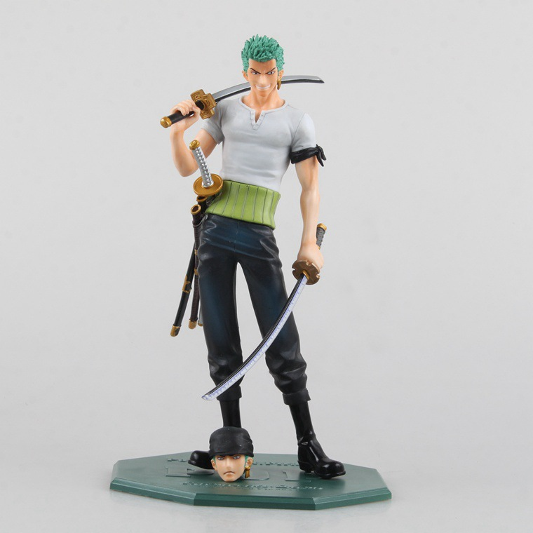 1 Pcs Anime Figurine One Piece POP Roronoa Zoro PVC Action Figure Doll Battle Model Toys 21 CM Collection Gift For Kids Boys Hot black leg sanji japan anime one piece action figure fire battle version 16cm pvc model toy with box collection doll toys f2722