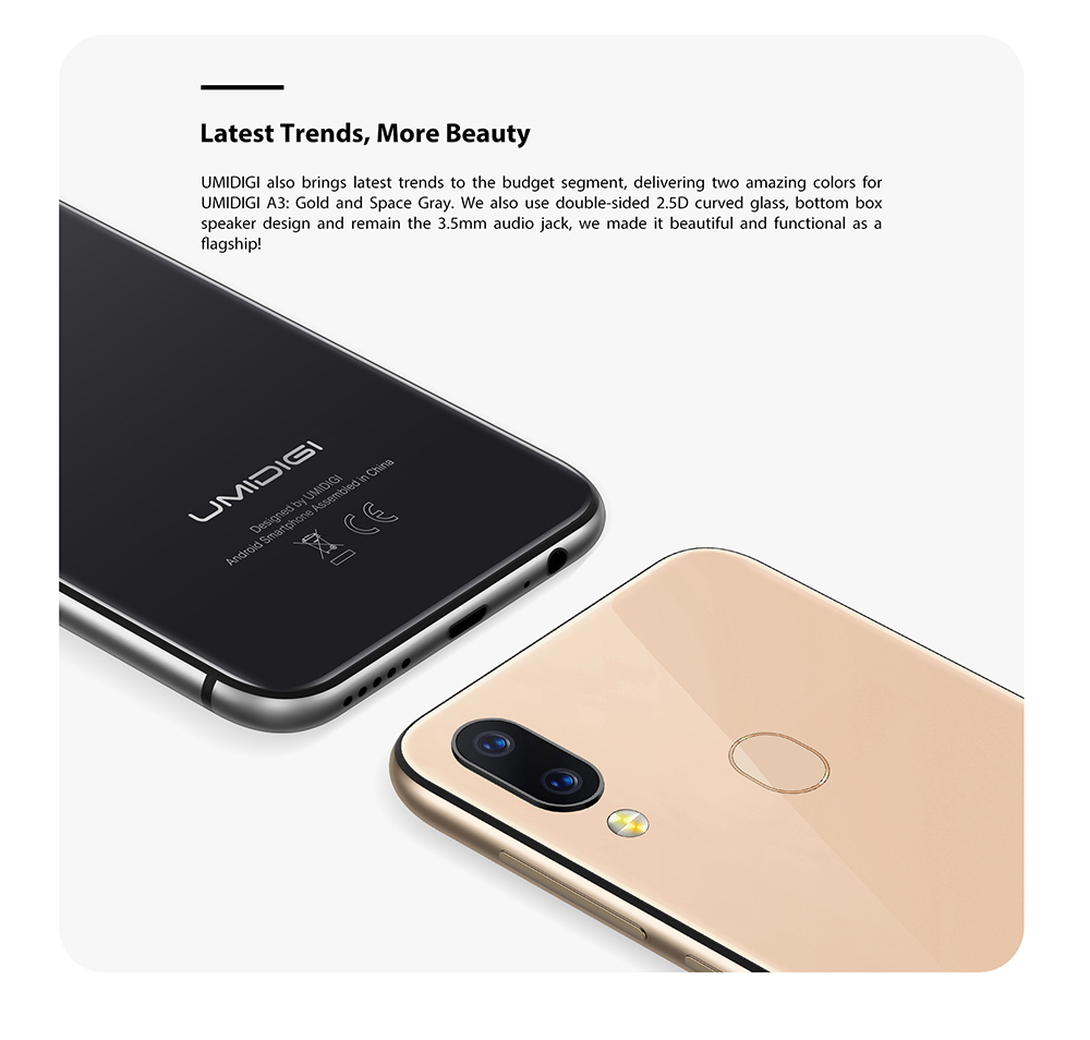 "UMIDIGI A3 Android 9.0 Global Band 5.5""incell HD+display 2GB+16GB smartphone Quad core 12MP+5MP Face Unlock Dual 4G Mobile phone"