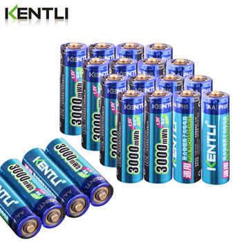KENTLI High Capacity free shipping lithium ion batteries 3000mWh 1.5V polymer battery rechargeable AA