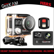 "GEEKAM H8RS Action Camera Ultra HD 4K WIFI Sport 360VR 1080P  2"" LCD 170D Wide-angle Waterproof Helmet Cam MINI Camcorder gift"