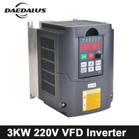 3kw Inverter VFD Variable Frequency Driver 220V Frequency Converter Output Phase 3phase Speed Control For CNC Engraver Machine