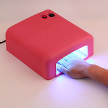 1set Professional 36w EU Plug UV Lamp 220v Gel Curing Nail Art Light Timer Dryer with 4pcs 365nm Bulb
