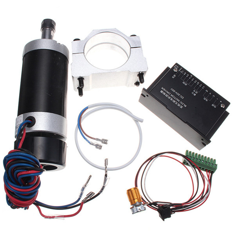 Brushless 500W DC 48V ER11 55mm Clamp Stepper Motor Driver Spindle Motor Driver Speed Controller For CNC Machine