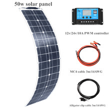 leory 110w 12v flexible solar panel diy battery system sunpower solar cells charger for rv boat car with 1 5m cable 1180mmx540mm 50w Flexible ETFE Solar Panel Flexible with Solar Power Cells Backsheet 18 Insulation 12v/24v Controller for boat Car RV Camper