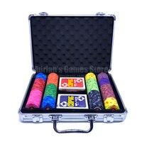 200 шт. 2018 все новые EPT фишки для покера набор с 2 колоды Пластик Игры покер карты и чемодан 200 шт. керамические покерные фишки