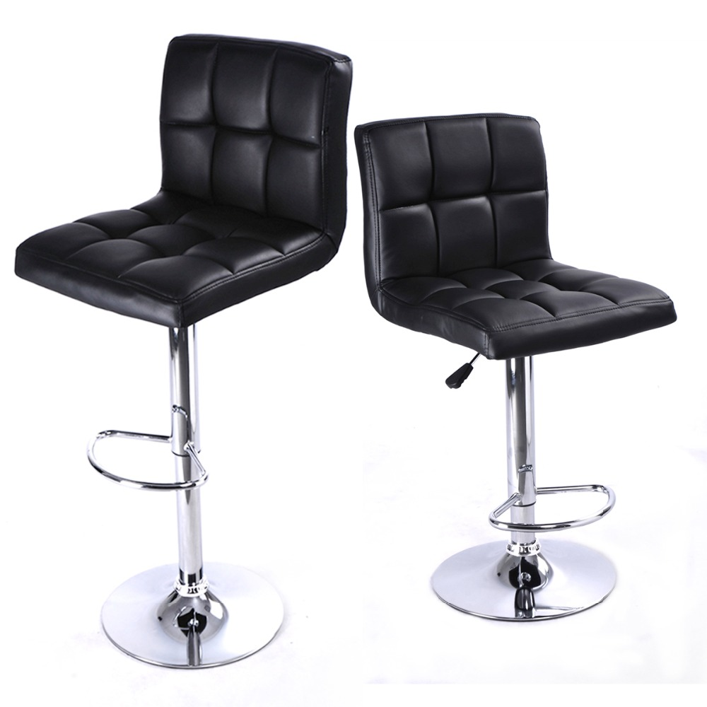 2 PC High quality Swivel Office Furniture Computer Desk Office Chair in PU Leather Chair bar stool New  HW50129-2BK 240311 high quality pu leather computer chair stereo thicker cushion household office chair steel handrails
