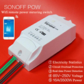 Itead Sonoff Pow, אלחוטי WiFi 16A כוח מתג ואט מד צריכת מדידה, בית חכם מרחוק Wattmeter לעבוד עם Alexa
