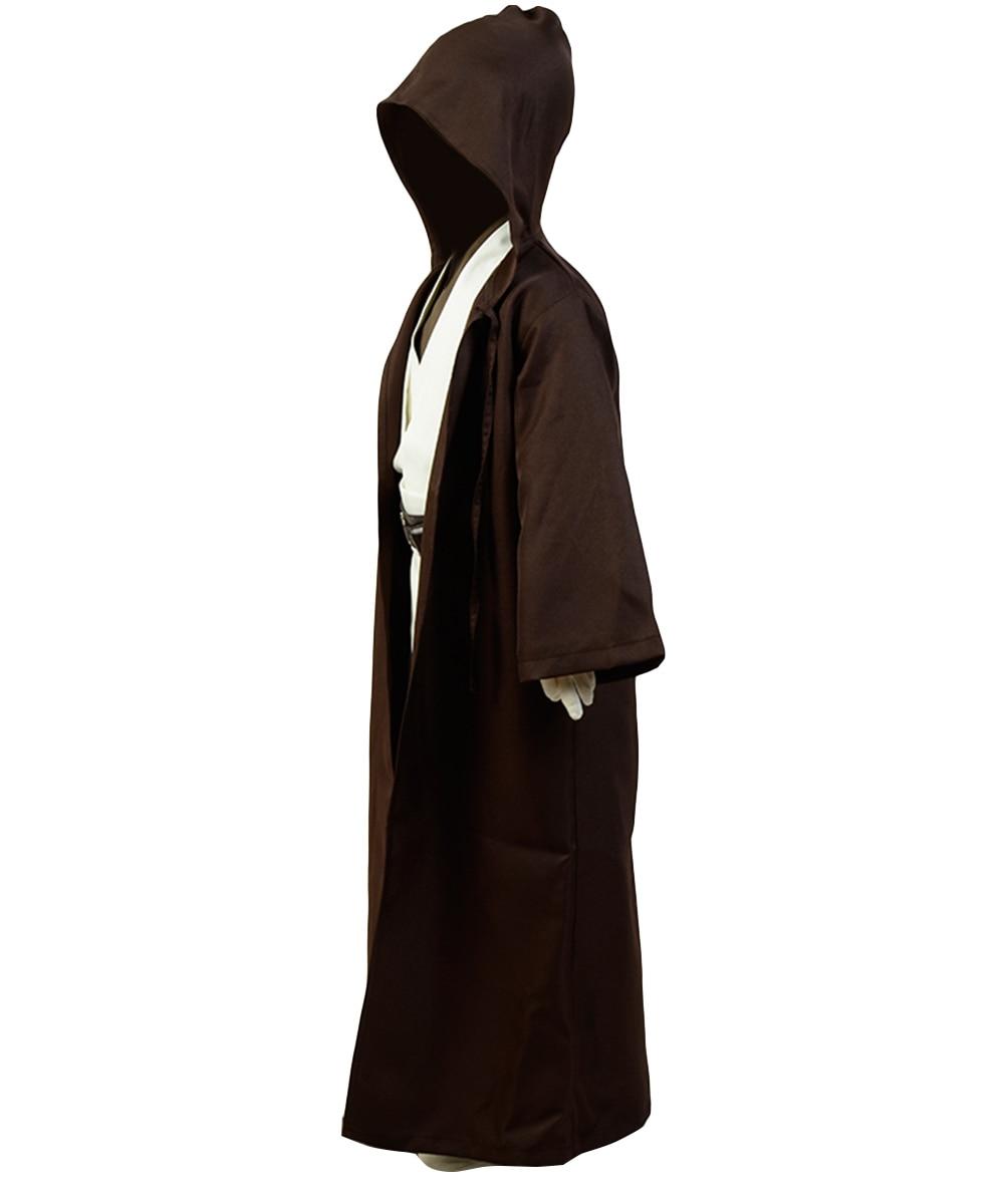 in stock)Movie Kids Star Cosplay Wars Obi Van Kenobi Jedi Cosplay Costume Brown Cloak Robe Child Version Full Suit Uniform Boys Costumes  - AliExpress