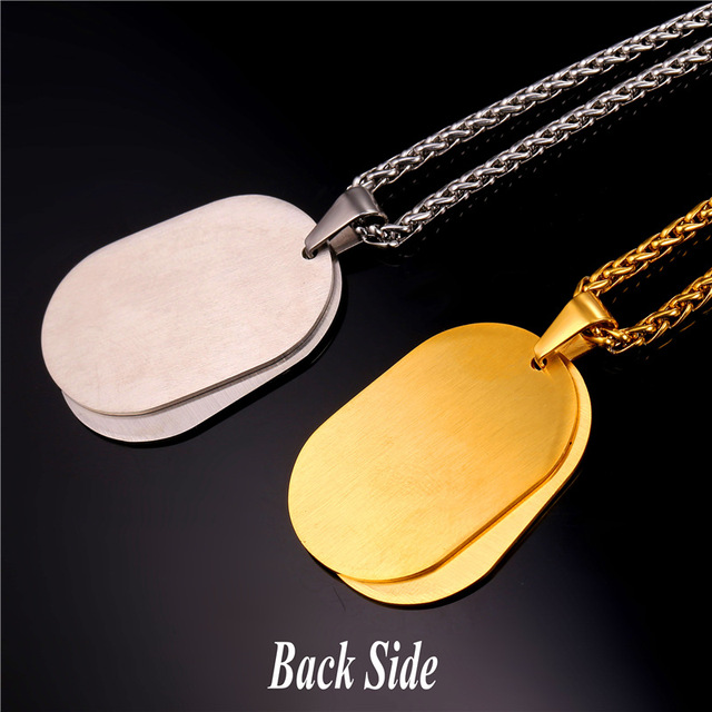 Double Pendant Necklace Boxing Sport Jewelry