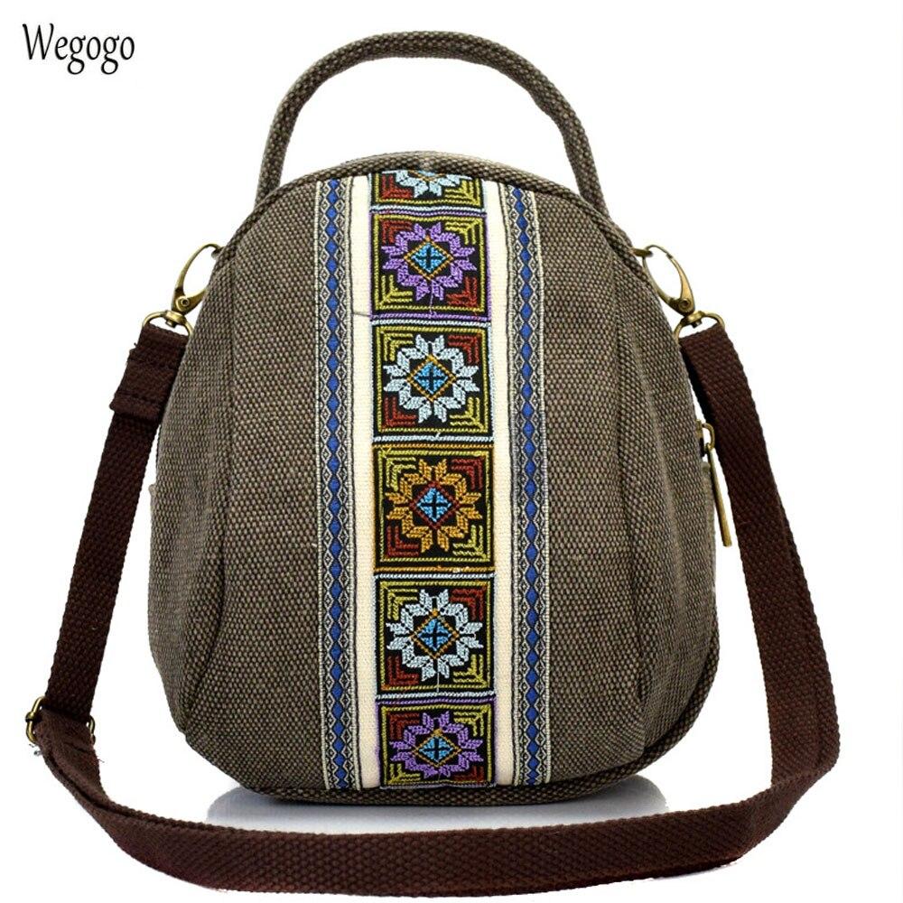Новое поступление Для женщин Курьерские сумки с национальной вышивкой мини Сумки-холсты 2 молнии мобильный телефон портмоне сумка