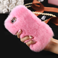 KISSCASS Luxury Case for iPhone 6s Plus Soft Smooth Fur Cover For Apple iPhone 6 6s Cute Women Plastic Back Shockproof Cover