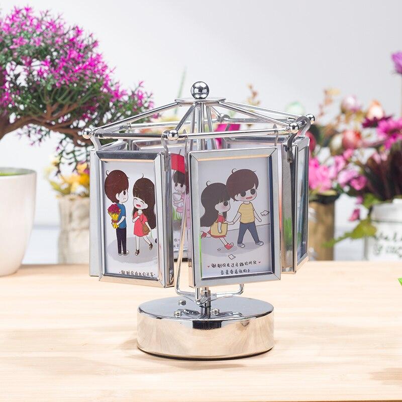 Wedding Music Box Gift: Creative Photo Frame Simple Modern Table Ferris Wheel