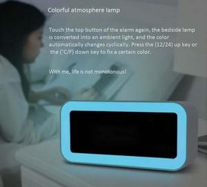 Image 5 - Heißer 12V Dual Usb Lade Smart Digital Wecker Mit Dimmbare Led Licht Musik Snooze Funktion Wecker