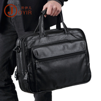 100 Natural Cow Leather Business Briefcase Genuine Leather Shoulder Bags Big Volume 15 Inch Laptop Bag