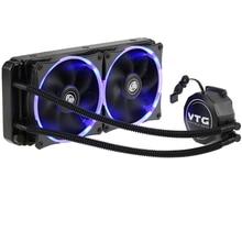 VTG240 Flüssigkeit Gefrierschrank Wasser Flüssigkeit Kühlsystem CPU Kühler Flüssigkeit Dynamische Lager 120mm Dual Fans mit Blauem LED-Licht
