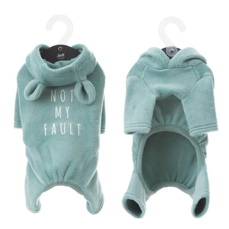 French Bulldog Cute Cat Ear Jumpsuit Dog Clothes for Small Dogs Pets Clothing Chihuahua Puppy Pajamas Yorkshire Coat Pug Costume in Jumpsuits Rompers from Home Garden