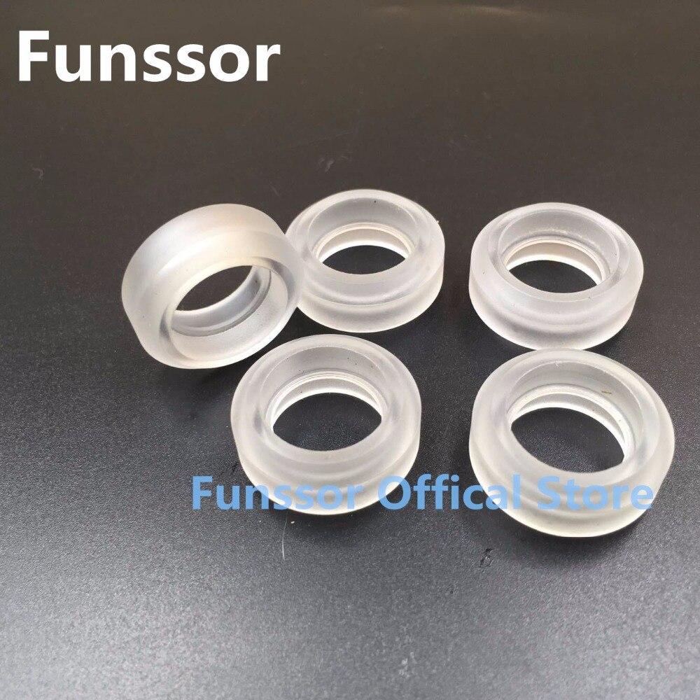 Funssor sólido extrema v de policarbonato claro para opensource lineal sistema V ranura rueda sólida 4 piezas/12 piezas/16 piezas