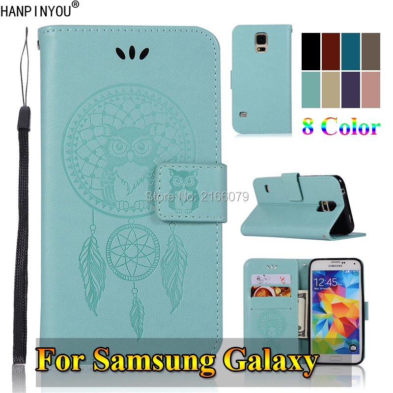 For Samsung Galaxy S5 S6 S7 Edge S8 S9 Plus Note 5 8 9 3D Pattern Owl Luxury Flip PU Leather Case Card Insert Wallet Stand Cover image