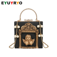 Luxury Shoulder Bag Ladies Hand Crossbody Bags Vintage Angel Clutch Leather Handbags Women Messenger Bags 2019 bolsa feminina