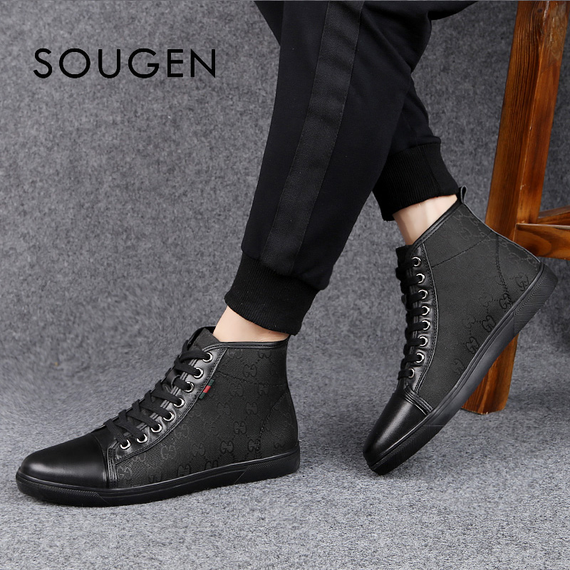 Pointure 38-46 chaussures Homme adulte Chaussure Homme Slip Espadrilles hommes baskets plateforme Off Black chaussures mode Homme 2019 baskets