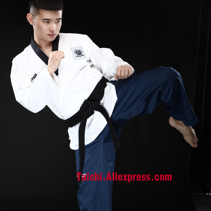 Black Belt Taekwondo Special High-quality Dan 'uniforms With Taekwondo Poomsae Cardigan