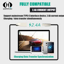2.4A USB Type C Cable Zinc alloy Fast Charging Charger Type-c Cable For Samsung S10 S9 Xiaomi Mi 9 8 Oneplus 6t USB C Data Cable ugreen 3a usb type c fast charging cable for samsung galaxy s9 plus usb data cable for xiaomi mi 8 oneplus 6 charger model 30159