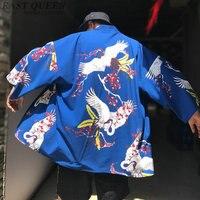Kimono cardigan men traditional japanese mens clothing yukata japan kimono men samurai clothing haori male AA3851 Y A