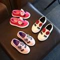 Zapatillas de deporte del bebé lentejuelas arco ojos pisos bling bow kids shoes sports shoes kids calzado de verano de los bebés de cuero resistente al agua
