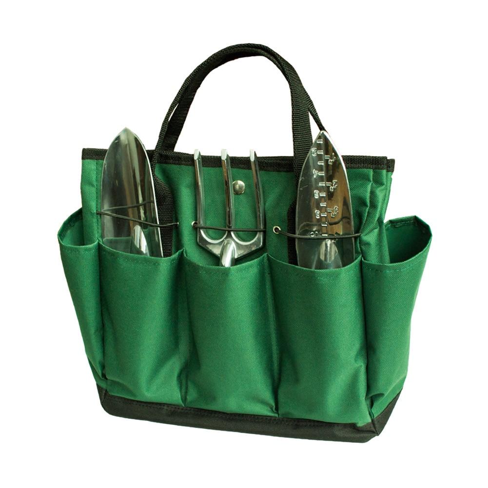 34.3x17.2x30.5cm 17L Garden Tote Bag Gardening Tool Storage Holder Oxford Bags Organizer Tote Lawn Yard Carrier --M25