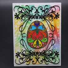 FeLicearts easter egg metal cutting dies stencil for embossing paper card making decorative albulm photo scrapbooking