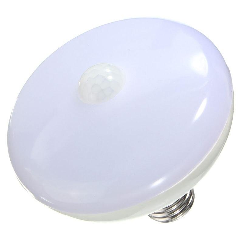 Newest E27 12W 5630 24 SMD LED Auto PIR Motion Sensor Infrared Energy Saving Light Bulb Pure Warm White AC85-265V