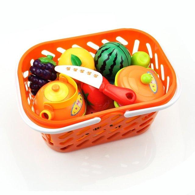 1 conjunto presente do bebê comida cozinha play brinquedo fruta vegetal faca de corte para o miúdo