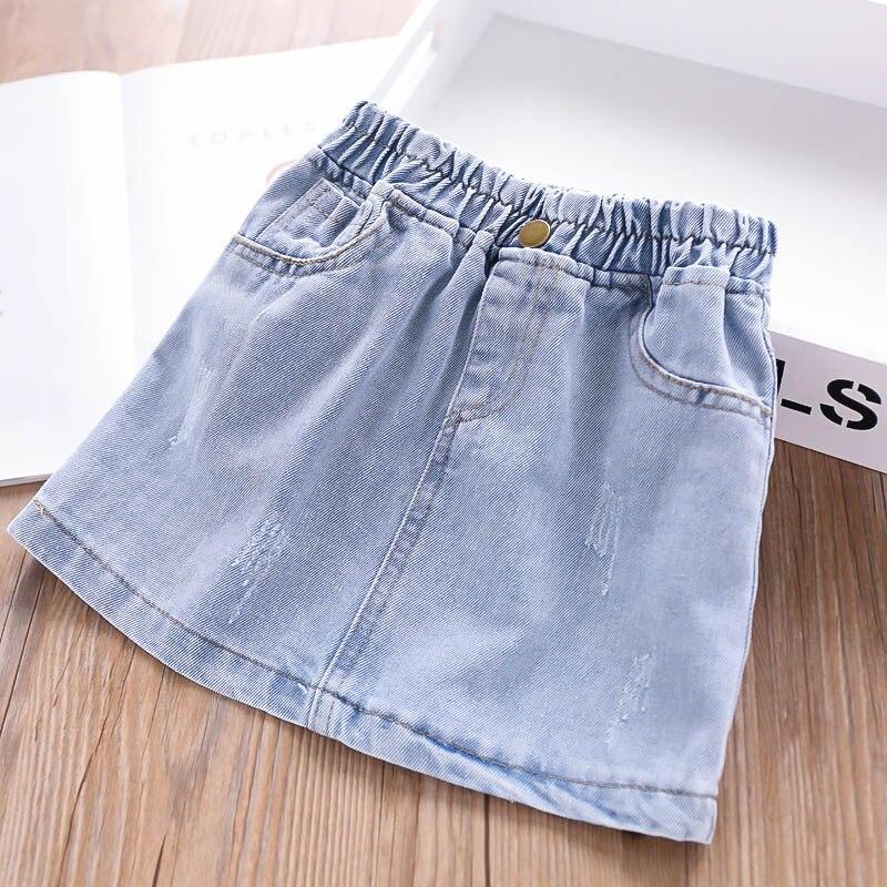 Summer 2019 Girls Washed Denim Skirt Children s Clothing Wholesale