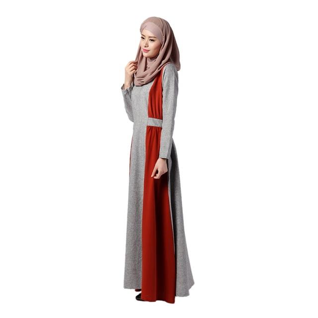 Muslim Islamic Women Prayer Dress Long Sleeve Abaya Dubai Turkish Clothing Vestidos KJ3