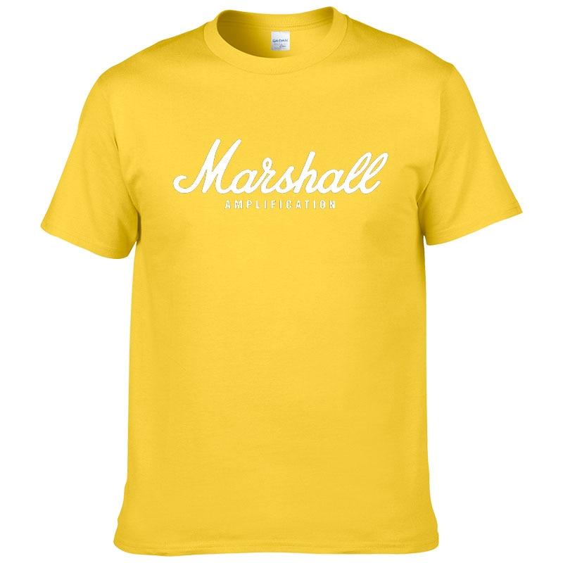100% cotton Marshall T Shirt men short sleeves tee hip hop street wear for fans hipster 59