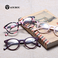 Round frame gafas okulary Reading glasses  Rice nail Resin de lectura lentes mujer occhiali lettura