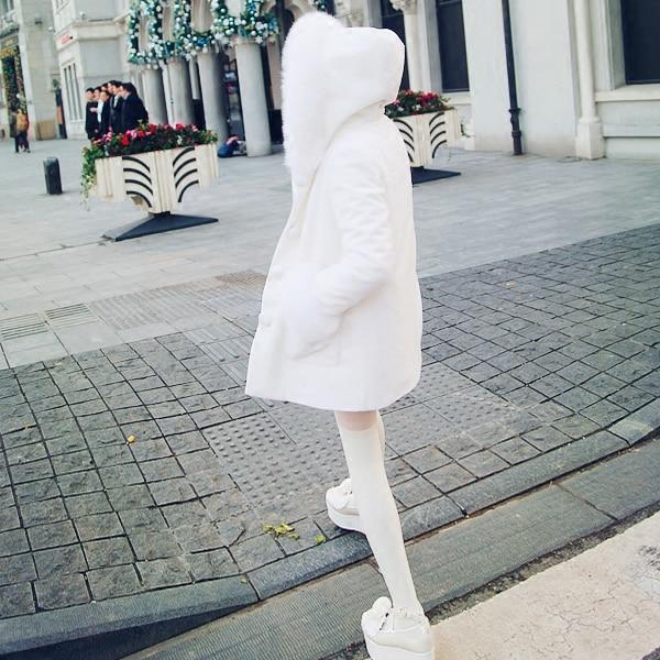 Fox 80 Nieve Vejiga 25 C1318 Falda Princesa Real Dulce Bobon21 Lana Lolita Diseño Días Encargo Exclusivo Chaqueta UqAf48Hw