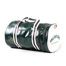 ใหม่หนังผู้ชาย Barrel Travel กระเป๋าแฟชั่นความจุสูงสำหรับผู้ชายกระเป๋ากันน้ำไหล่ Bolsa Deporte Duffel กระเป๋า