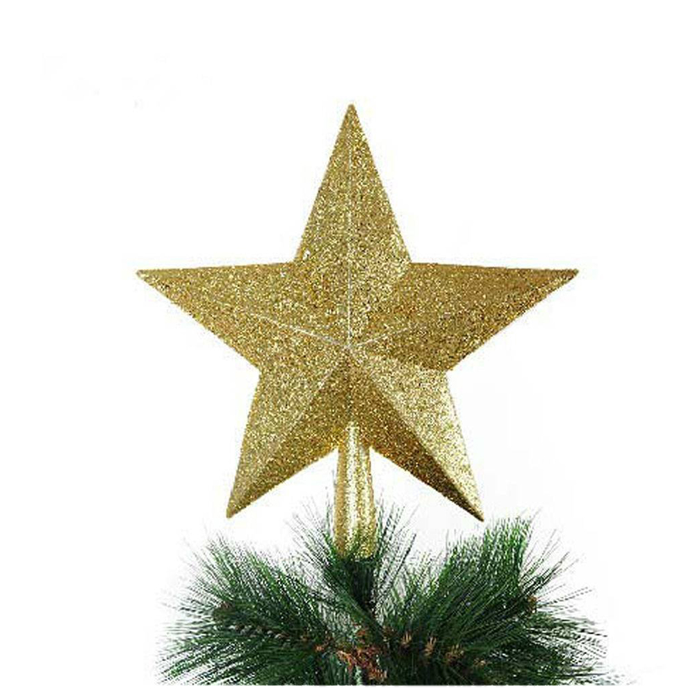 HOT SALE  Christmas Star Christmas Tree Top Christmas Tree Decoration gold