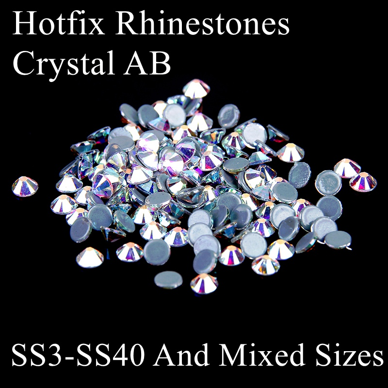 Glitter Crystal AB Hotfix Iron On Rhinestones Glue Backing Strass Stones And Crystals Perfect For DIY Fabric Garment Accessories aaaa quality rainbow dmc flatback crystals hot fix rhinestones garment accessories gray glue ss6 ss8 ss10 ss16 ss20 ss30