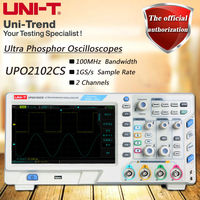 UNI T UPO2102CS Super Fluorescent Oscilloscope Sampling Rate 1GS S 2 Channel 100MHz Bandwidth 8 TFT