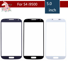 10pcs/lot High Quality For Samsung Galaxy S IV S4 i9500 I9505 I337 GT-i9500 Front Outer Glass Lens Touch Screen Panel Replacemen pepk shockproof case gorilla glass for samsung galaxy s4 iv i9500