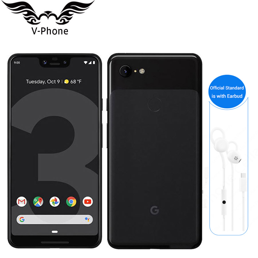 Original Brand New Google Pixel 3 XL Mobile Phone Global 4GB 64GB Snapdragon 845 Octa Core 6.3 Inch Android 9.0 NFC 4G LTE Phone